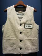 WEIRDO  MAIL ORDER VEST(NATURAL)