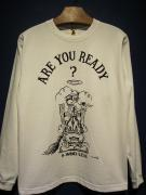 "Vinny×EDWARD LOW ""READY?"" L/S T(WHITE)"