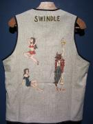 North No Name×SWINDLE 5th VEST(HAND PAINT/GRAY・M)