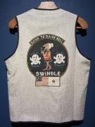 North No Name×SWINDLE 5th VEST(HAND PAINT/GRAY・S)