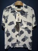 BY GLADHAND  PINEAPPLE -SHORT SLEEVE SHIRTS(WHITE)