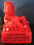 Vintage / RED DEVIL Statue