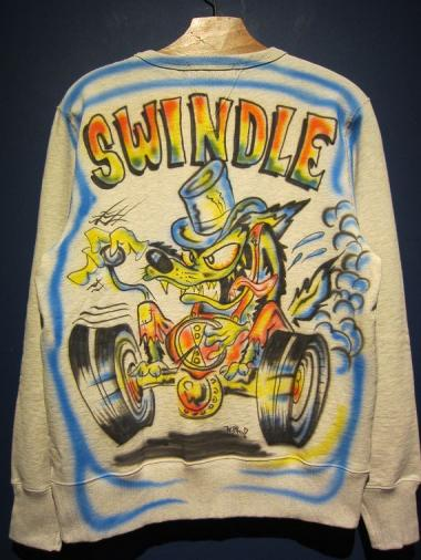 "Wino ""SWINDLE WOLF"" AIR BRUSH SWEAT(E)Size:L"