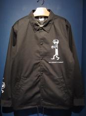 "EDWARD LOW ""Washer!"" COACH JACKET (BLACK)"
