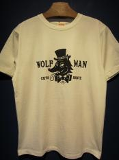 WOLFMAN LOGO - S/S T-SHIRTS (WHT×BLK)