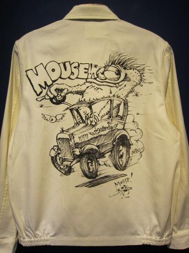 WEIRDO  MOUSE HOTROD - JACKET (WHITE)
