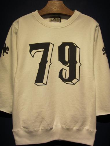 NORTH NO NAME   NUMBERING SWEAT (WHITE)