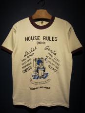 "EDWARD LOW ""HOUSE RULES"" Ringer T (NTR×BRG)"