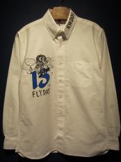 "EDWARD LOW×Vinny ""Fly High"" B.D.SHIRTS (WHT)"