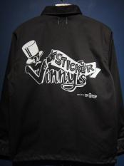 "EDWARD LOW ""Vinny's STICKER"" COACH JKT (BLACK)"