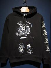 "EDWARD LOW×Vinny ""swd 7th"" SWEAT PARKA (BLACK)"