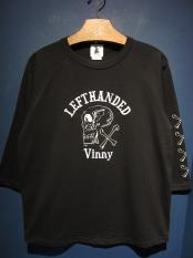 "EDWARD LOW ""LEFTHANDED Vinny"" Raglan T (BLACK)"