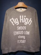 "EDWARD LOW×Vinny ""Fly High"" SWEAT (GRY)"