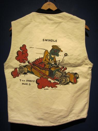 North No Name×SWINDLE 7th/HAND PAINT VEST(A)SIZE:S