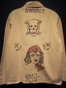 """NORTH NO NAME×SWINDLE6th """"HAND PAINT"""" COVER ALL:M"""