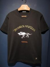 "GAVIAL /  tee 03 ""WILD SIDE""(BLACK)"