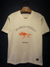 "GAVIAL /  tee 03 ""WILD SIDE""(WHITE)"