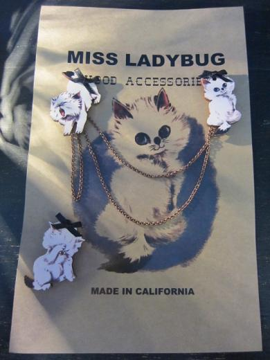 Miss Ladybug CAT COLLAR PINS