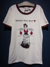 Miss Ladybug  Knock You Out Ringer Tee