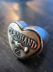 "GLAD HAND & Co. BUTTON RING ""HEART"" LARGE"