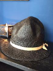 GAVIAL / Mountain straw hat (BLACK)