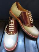 GLADHAND×REGAL SADDLE SHOES (GRY/BROWN)