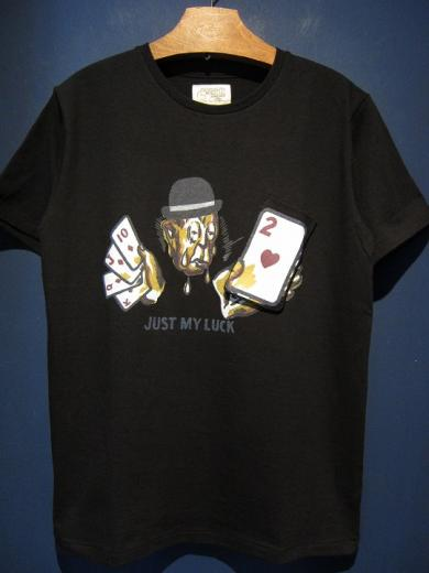 "5WHISTLE/""JUST MY LUCK""Gimmic Tee (BLACK)"