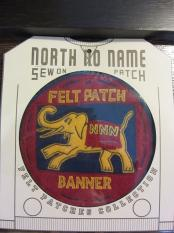 North No Name FELT PATCH (BANNER)