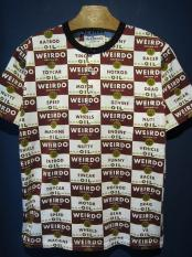 WEIRDO  WRD CANS - HENRY NECK T-SHIRTS (RED)