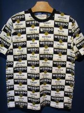 WEIRDO  WRD CANS - HENRY NECK T-SHIRTS (BLACK)