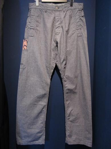 5WHISTLE/WHISTER DUSTER PANTS (PIN CHECK)
