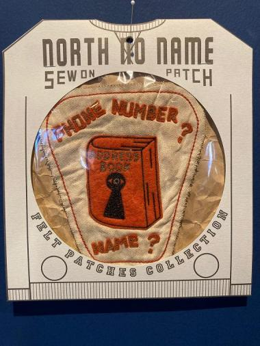 North No Name FELT PATCH (PHONE NUMBER?)