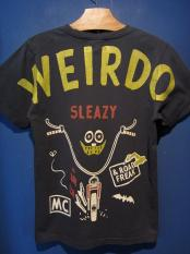 WEIRDO  ROAD FREAK SLEAZY - S/S T-SHIRTS (BLACK)