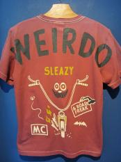 WEIRDO  ROAD FREAK SLEAZY -S/S T-SHIRTS (BURGUNDY)