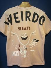 WEIRDO  ROAD FREAK SLEAZY - S/S T-SHIRTS (PINK)