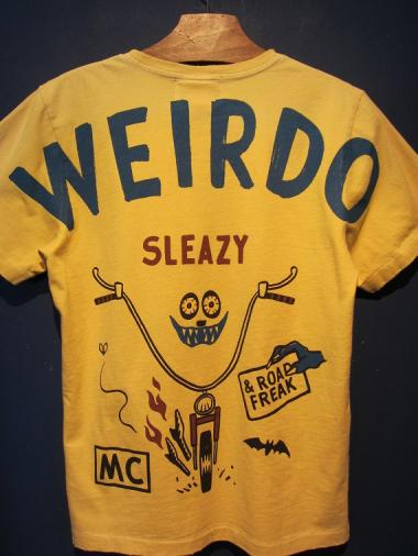WEIRDO  ROAD FREAK SLEAZY - S/S T-SHIRTS (MUSTARD)