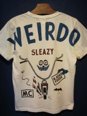 WEIRDO  ROAD FREAK SLEAZY - S/S T-SHIRTS (WHITE)