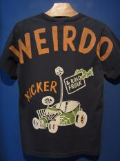 WEIRDO  ROAD FREAK KICKER - S/S T-SHIRTS (BLACK)