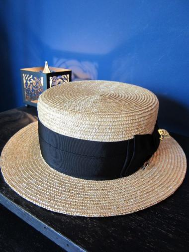 "5WHISTLE /  ""JESTER"" BOATER HAT(BEIGE)"