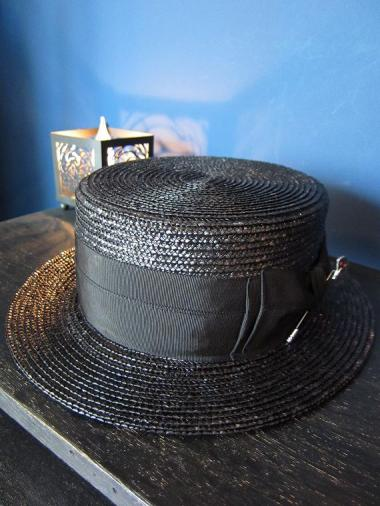 "5WHISTLE /  ""JESTER"" BOATER HAT(BLACK)"