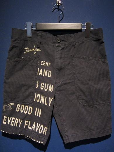 BY GLADHAND  GLAD CHEWING GUM - SHORTS (BLACK)