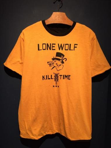 NORTH NO NAME / LONE WOLF REVERSIBLE T(MSD×BLK)