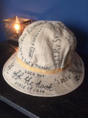 "NORTH NO NAME/ ""MESSAGE"" LINEN HAT"