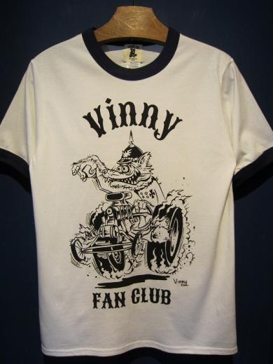 "Vinny×EDWARD LOW ""FAN CLUB"" Ringer T(WHITE×NAVY)"