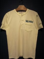 WEIRDO DAILY - S/S HENRY NECK T-SHIRTS (WHITE)