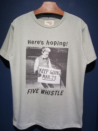5WHISTLE/Here's hopping! PHOTO TEE (GREEN)