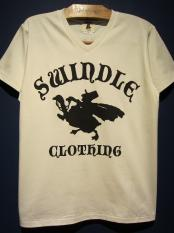"EDWARD LOW  ""SWINDLE"" 5th TEE (Vneck-WHITE)"