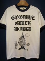 "Vinny×EDWARD LOW ""CRUEL"" Ringer T(WHITE×NAVY)"