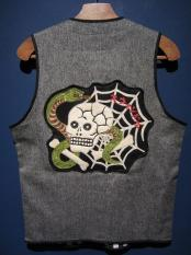 North No Name×SWINDLE 5th VEST (SKULL PATCH/BLACK)