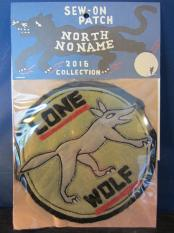 North No Name FELT PATCH (LONE WOLF)
